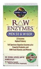 Garden of Life RAW Enzymy Men 50 Wiser pro muže po padesátce 90kapslí