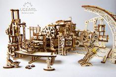 UGEARS Robot Factory - Továreň na roboty