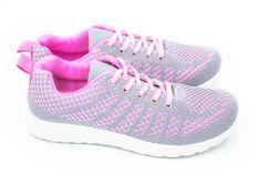Dámská sportovní obuv šedá/růžová