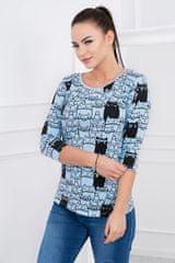 Kesi Dámské tričko Kočky modré