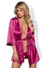 Obsessive Dámske erotické župany Satinia robe pink