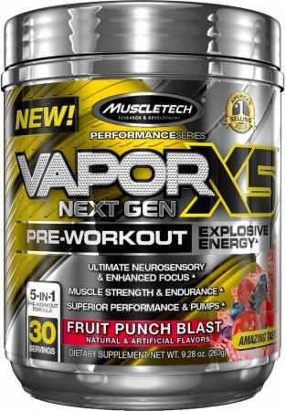 MuscleTech Vapor X5 Next Gen 232g ovocný punč