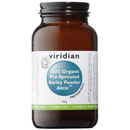 VIRIDIAN nutrition BIO 100% Organic Activated Barley Powder 100g