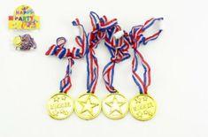 Teddies Medaile průměr 4cm 4ks plast