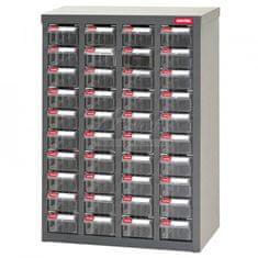 Shuter Galvanizovaný kovový organizér pre dielenský materiál a diely s 40 zásuvkami ST1-440 | Shuter