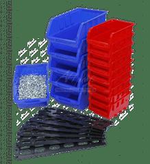 AHProfi Závesná plastová lišta s 15 plastovými boxami - MSBRWK0906 | AHProfi