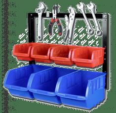 AHProfi Kovový organizér s magnetickou lištou a 7 plastovými boxami - MSBRW1707 | AHProfi