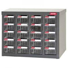 Shuter Galvanizovaný kovový organizér pro dílenský materiál a díly s 20 zásuvkami - ST1-420 | Shuter