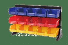 AHProfi Kovový organizér na skrutky s 15 plastovými boxami - MSBRT2015 | AHProfi