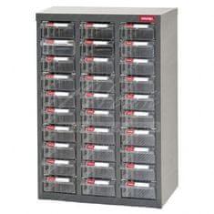 Shuter Galvanizovaný kovový organizér pre dielenský materiál a diely s 30 zásuvkami ST-2330 | Shuter