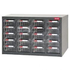Shuter Galvanizovaný kovový organizér pre dielenský materiál a diely s 20 zásuvkami ST-2420 | Shuter