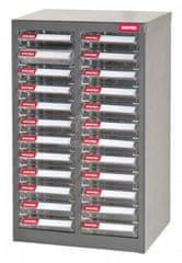 Shuter Galvanizovaný kovový organizér pro dílenský materiál a díly s 24 zásuvkami A6-224P | Shuter