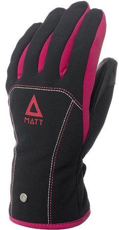 Matt 3199JR Patricia Junior Gore-Tex dekliške smučarske rokavice, črno-roza, S