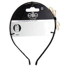Elite Models Čelenka s mašľou , kovová, čierna