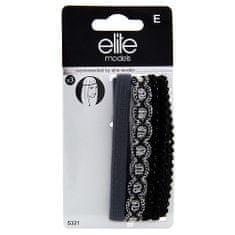 Elite Models Čelenky na čelo 3ks , 3ks, textilní, šedá/černá