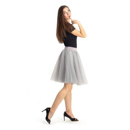 Cheremyha Tylová tutu sukně - M, šedá