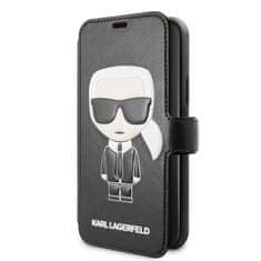 Karl Lagerfeld Ikonik Book Pouzdro pre iPhone 11 Black (EU Blister), KLFLBKSN61FIKPU
