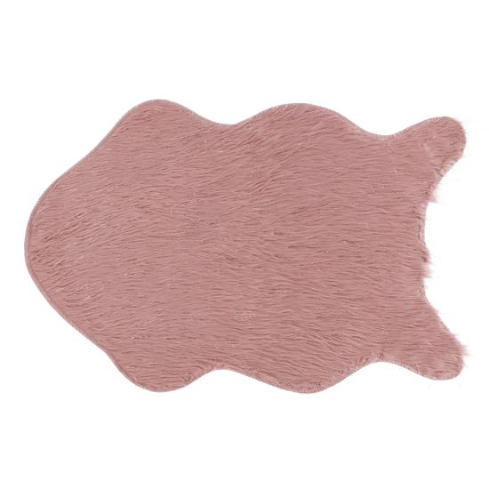 TEMPO KONDELA Umelá kožušina, ružová/zlatoružová, 60x90, FOX TYP 3