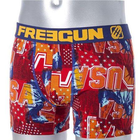 Freegun moške bombažne boksarice, S, oranžne/rdeče FGC7/RIT/1BCUB2Y