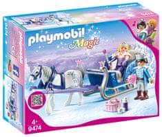 Playmobil vprežne sani s kraljevskim parom (9474)