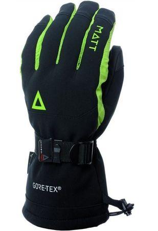 Matt 3189JR Ricard Junior Gore fantovske smučarske rokavice, črno-zelene, S