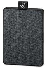 Seagate One Touch 500 GB, USB 3.0 vanjski prijenosni SSD, crna