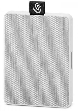 Seagate One Touch 1 TB, USB 3.0 zunanji prenosni SSD disk, bel