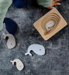 Kindsgut Dřevěné vkládací puzzle Velryba