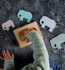 Kindsgut Dřevěné vkládací puzzle Slon