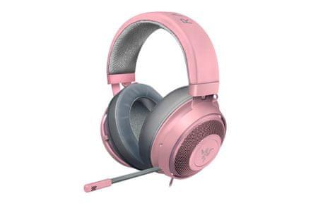 Razer Kraken gaming slušalke, roza