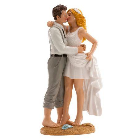 Dekora Svatební figurka na dort 16cm na pláži 16cm