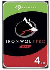 Seagate IronWolf PRO 4 TB, SATA 6 Gb/s, 128 MB, 7200 trdi disk