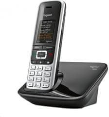Gigaset -S850 - DECT / GAP bezdrôtový telefón, farba čierna