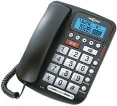 Concorde phones C-5030-CERNA - šňůrový telefon s velkými tlačítky, LCD, barva černá