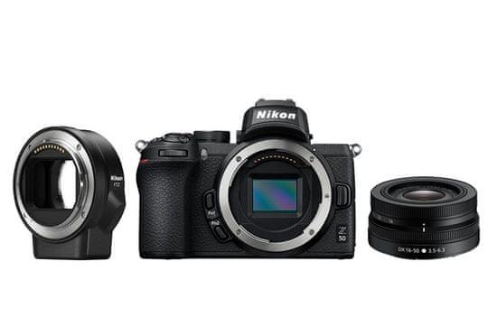 Nikon Z50 + 16-50 mm + FTZ (VOA050K004)