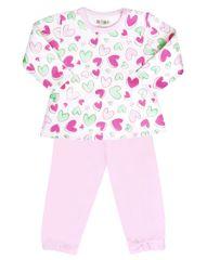 Nini ABN-1798 pidžama za djevojčice sa srcima