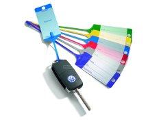 AHProfi Cedulky na klíče plastové PP - modro/bílé - 434010080   AHProfi