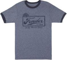 Fender Beer Label T-Shirt Blue L Tričko
