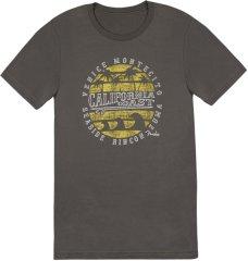 Fender California Coastal Yellow Waves T-Shirt L Tričko