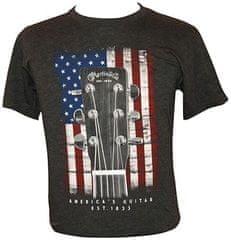 Martin T-Shirt American Flag L Tričko