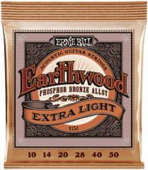 Ernie Ball Earthwood Phosphor Bronze Extra Light Kovové struny na akustickú gitaru