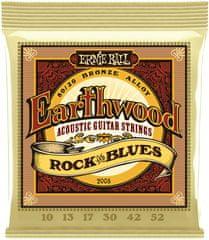 Ernie Ball Earthwood 80/20 Bronze Rock & Blues Kovové struny na akustickú gitaru