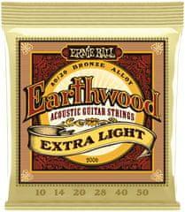 Ernie Ball Earthwood 80/20 Bronze Extra Light Kovové struny na akustickú gitaru