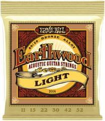 Ernie Ball Earthwood 80/20 Bronze Light Kovové struny na akustickú gitaru