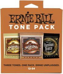 Ernie Ball Acoustic Tone Pack Medium-Light Kovové struny na akustickú gitaru