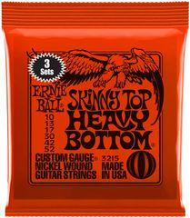 Ernie Ball Nickel Wound Skinny Top Heavy Bottom 3 Pack Struny na elektrickú gitaru
