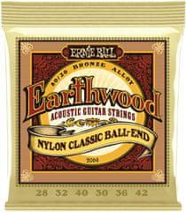 Ernie Ball Earthwood Folk Nylonové struny na klasickú gitaru