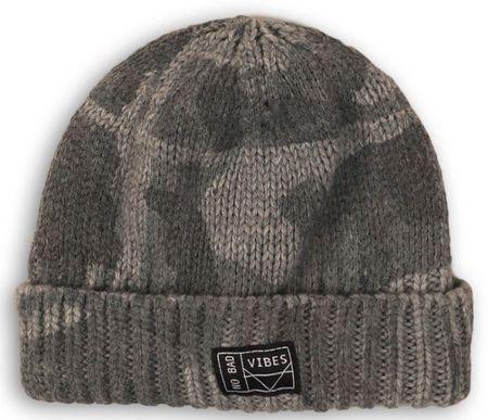 Minoti Scout 128 zimska kapa za dječake, siva, 116-128