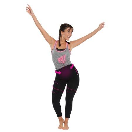 Lanaform Active Slim ženske hlače za oblikovanje telesa, črne, L