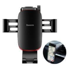 BASEUS Metal Age gravitační držák telefonu se sklopným ramenem (černá), SUYL-F01